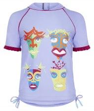 Girl's Rash Vest - African Mask